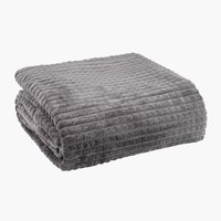 Throw HAGTORN fleece 140x200 grey