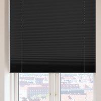 Plisségardin FYN 140x160 lysdemp svart