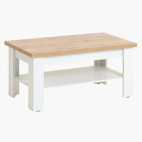 Coffee table MARKSKEL 60x110 cm wht/oak