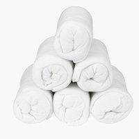 Prześc. frotte 140/150x200x25cm białe