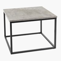 End table DOKKEDAL 60x60 concrete/black