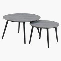 Set stolčića VEBBESTRUP siva