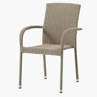 Stohovací židle HALDBJERG přírodní