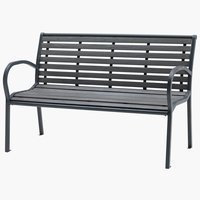 Bench RAKKEBY W125xL59 grey