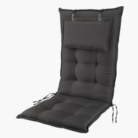 Cushion recliner chair STARENGE d.gry