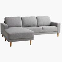 Sofa EGENSE mit Chaiselongue hellgrau