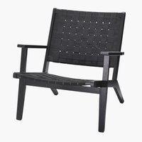 Lounge chair BEDER black