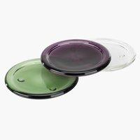 Стъклена чиния GEORG за свещи асорти