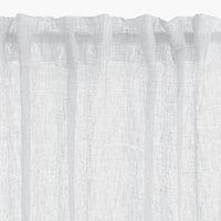 Gardin UNNEN 1x140x245 hørlook hvid