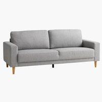 Sofa EGENSE 3-seter lys grå