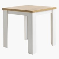 Dining table MARKSKEL 80x80 white/oak