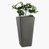 Garden planter BLOMMOR W31xL31xH50 grey