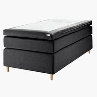 Boxspring 90x200 GOLD C75 donker grijs