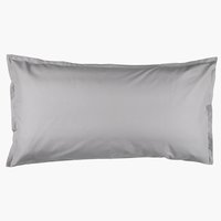 Pillowcase 50x90cm l. grey KRONBORG