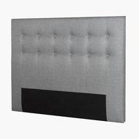 Sengegavl PLUS H80 150 knapper lys grå