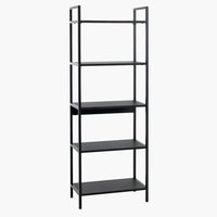 Shelving unit TISTRUP 5 shelves black