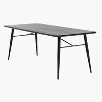Dining table RADBY 90x200 black