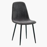 Cadeira jantar JONSTRUP veludo cinzento