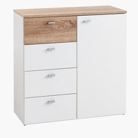 4 drawer 1 door chest BELLE white/oak