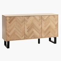 Sideboard AGERSKOV 3 door oak/black