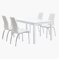 NORDBY L180 white + 4 UK HAVNDAL white