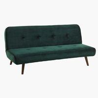 Sofá cama JUVRE terciopelo verde oscuro