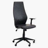 Kancelarijska stolica LYSEKIL crna