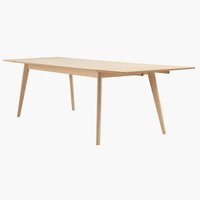 Dining table KALBY 90x200/290 light oak