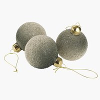 Christmas bauble KARNEOL 3 pack