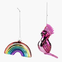 Ornament MYSING glass 2 pack