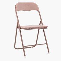Krzesło składane VIG aksamit różowy