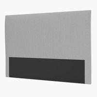 Sänggavel 160 PLUS H60 slät silvergrå