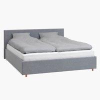 Ліжко EGERSUND 180x200см св.сірий