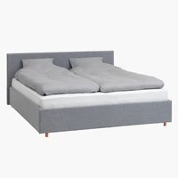 Rama łóżka EGERSUND 180x200 jasnoszary