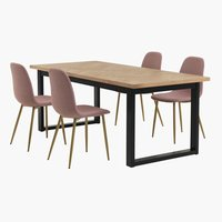 AGERSKOV L200 oak + 4 UK JONSTRUP rose