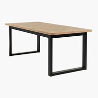 Ruokapöytä AGERSKOV 90x200 tammi/musta