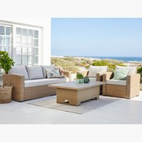 Loungeset VEMB 5-sits natur