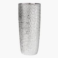 Vase URBAN Ø13xH31cm sølv
