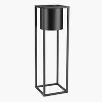 Cache-pot DETLEF l15xL15xH50cm noir