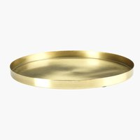 Decorative tray FRITS D30xH2cm brass