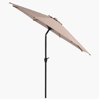 Market parasol AGGER D300 light grey