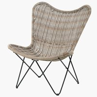 Lounge chair VALLESTRUP nature