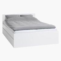 Bed frame LIMFJORDEN KNG white