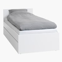 Bed frame LIMFJORDEN SGL white