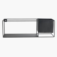 Shelf VILMER W13xL40xH13cm w/plant pot