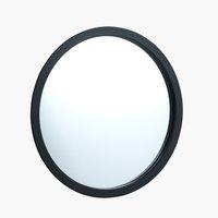 Specchio RANDERUP Ø47 nero