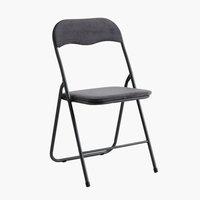 Sklop. stolica VIG barš. tamno siva