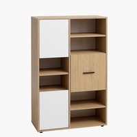 Bookcase BILLUND 3 doors white/oak
