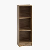 Bookcase HORSENS 3 shelves slim wild oak