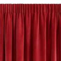 Gardin AUSTRA 1x140x245 fløyel rød